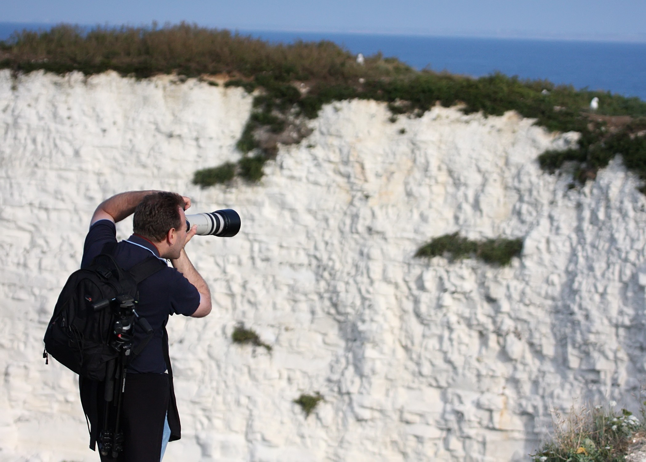 Ian Middleton Photographer photographing Old Harry Cliffs