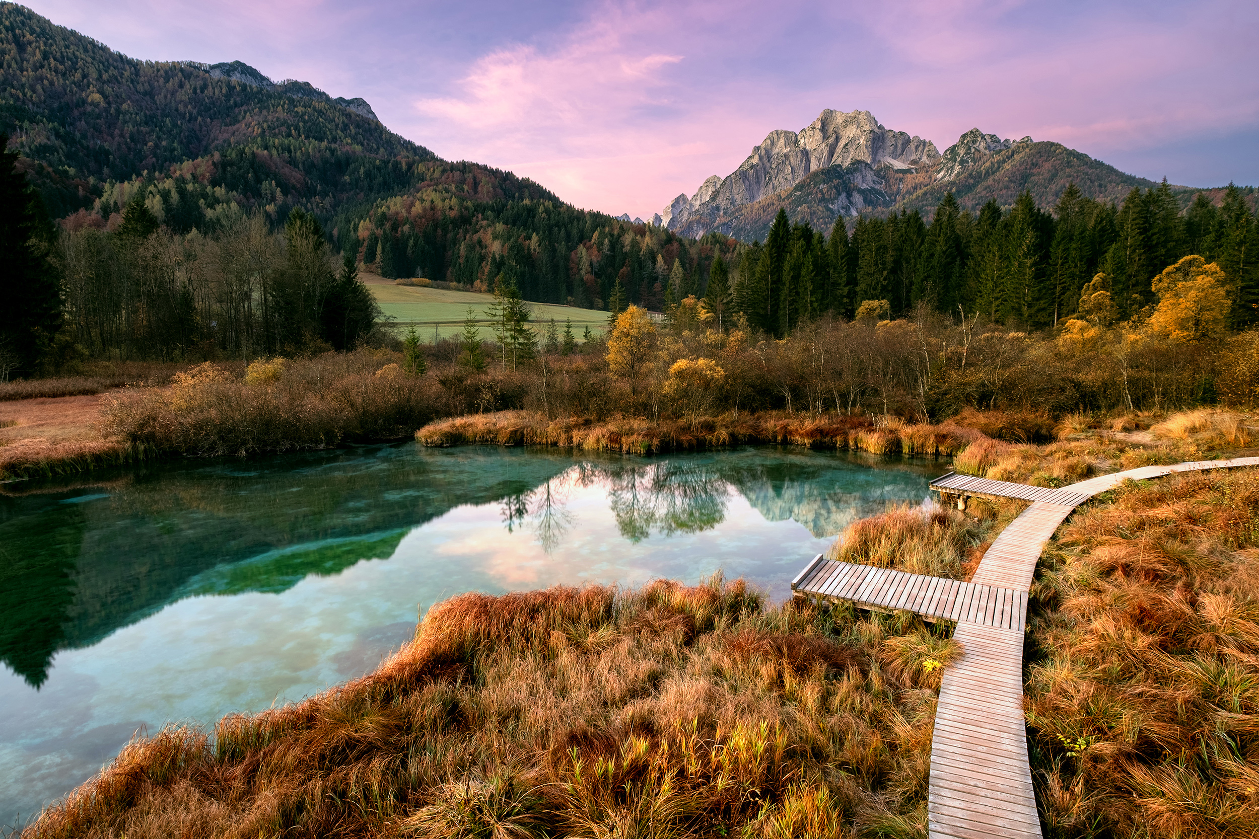 Zelenci Sunrise in Autumn by Matthew Storer