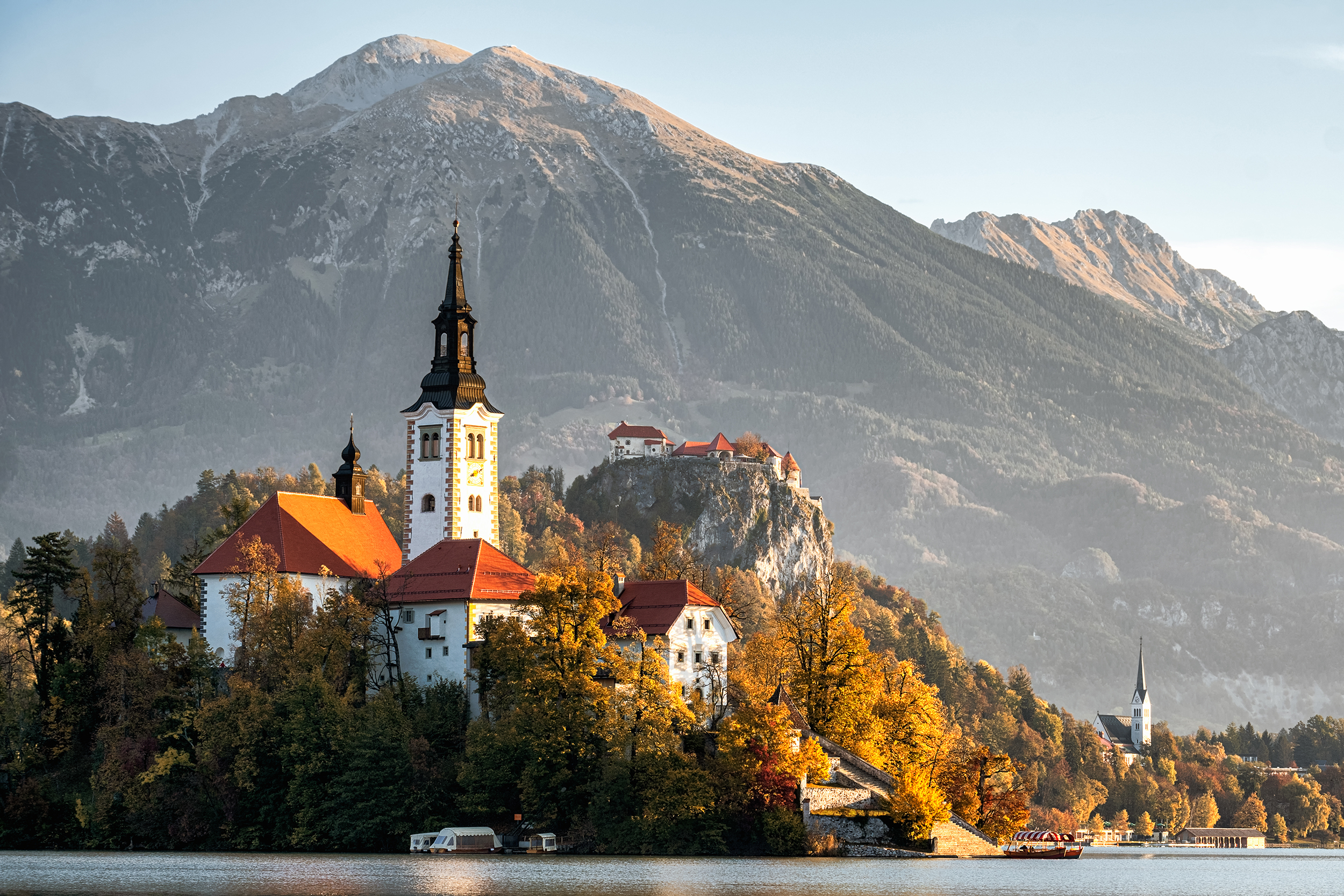 Lake Bled Island in Autumn