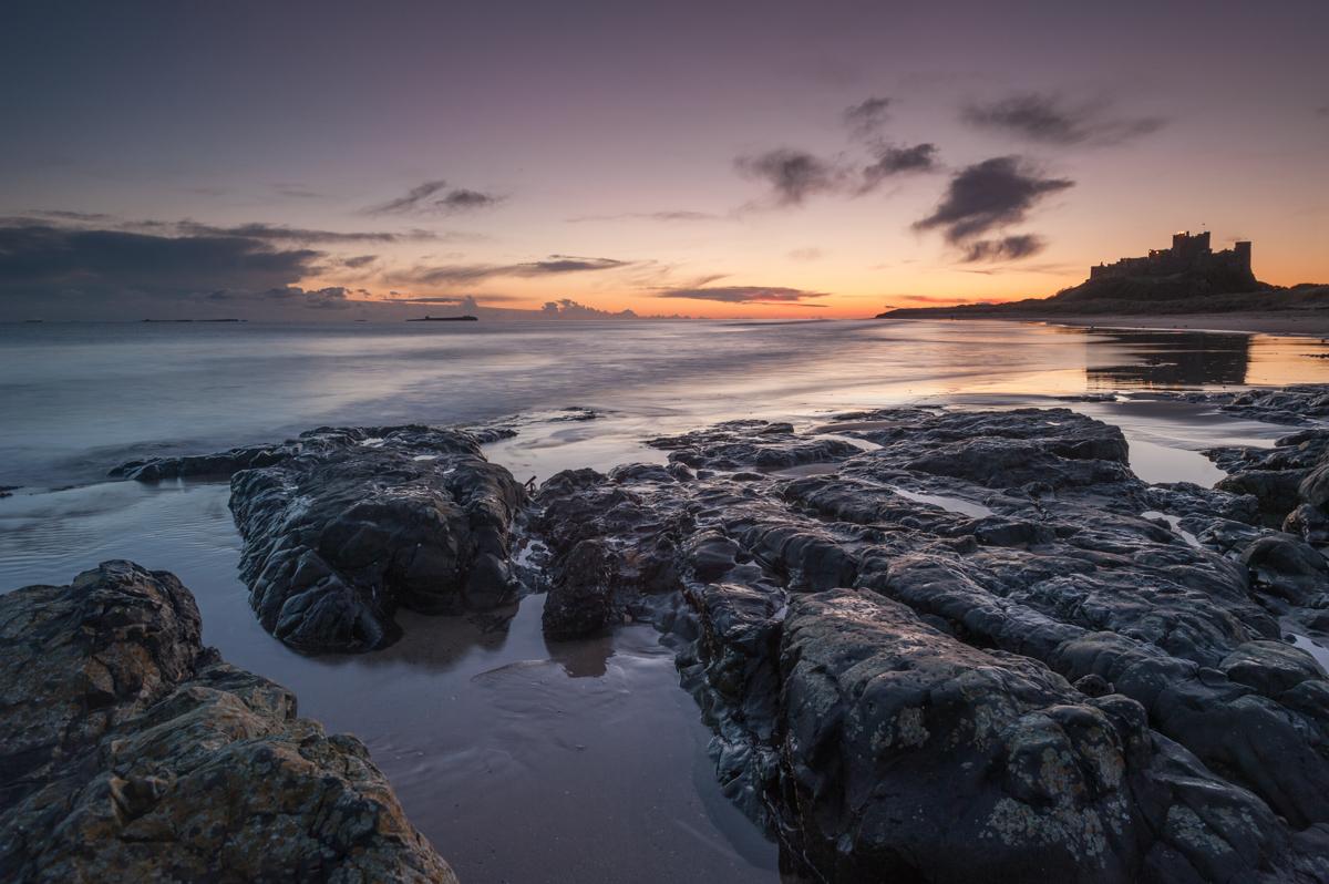 Northumberland coast in northwest England.