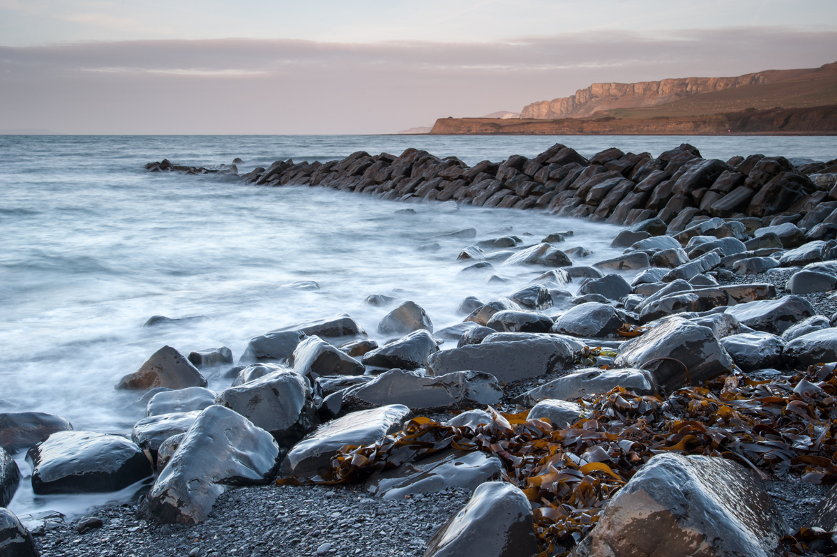 Kimmeridge bay on the Jurassic Coast in Dorset, England.