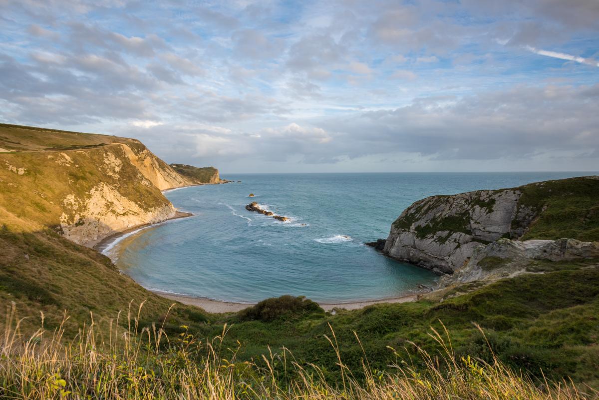 Man o war bay on the Jurassic Coast in Dorset, England.